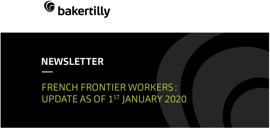 French frontier workers: update as of 1st January 2020