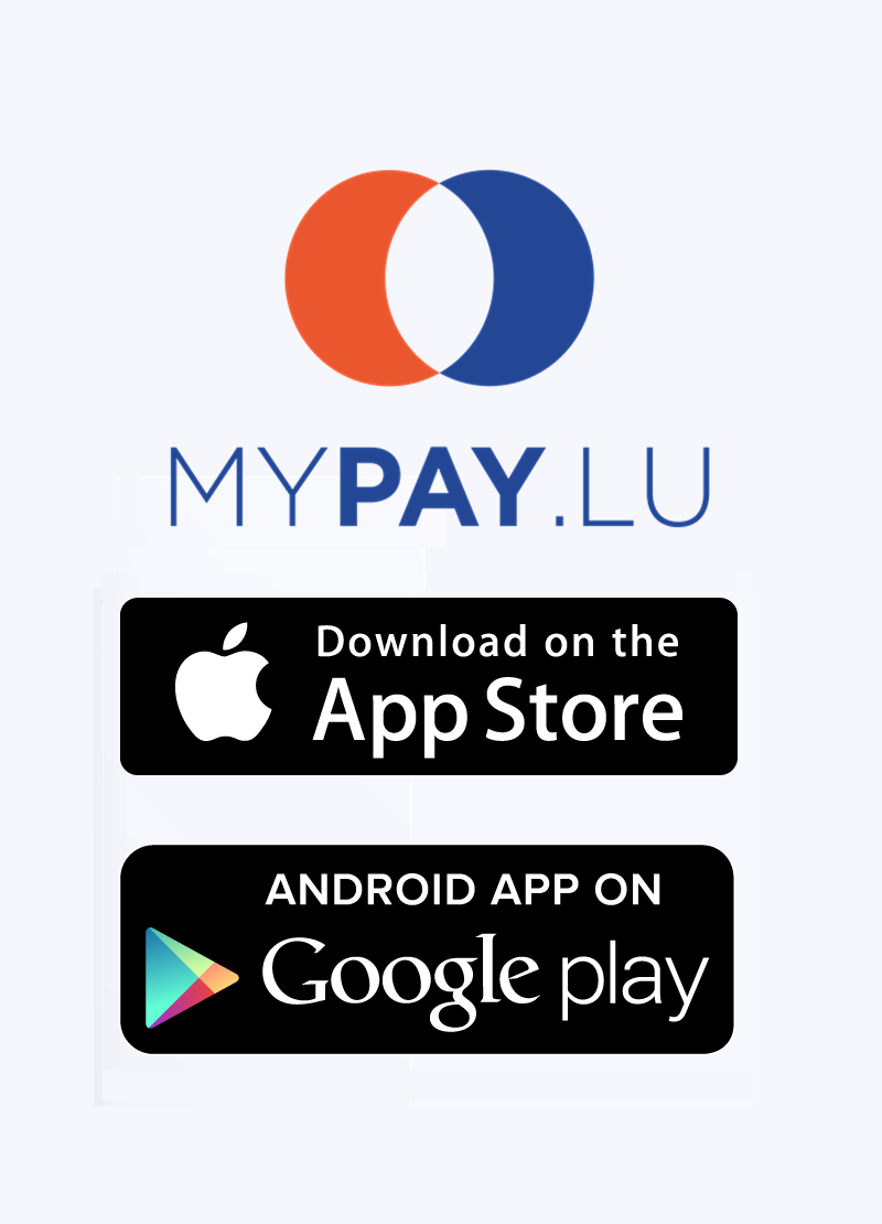 MyPay.Lu - apps available in Apple Store and Google Play Store